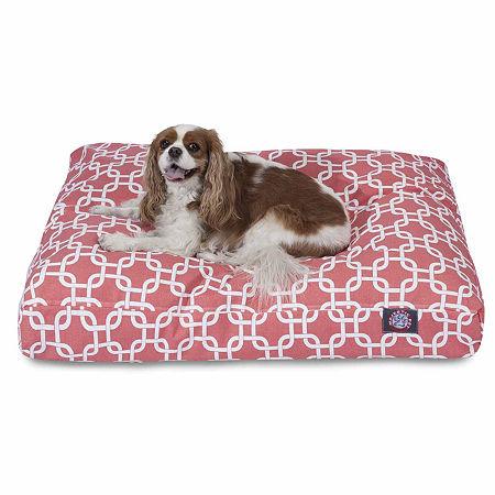 Majestic Pet Links Rectangle Pet Bed, One Size , Orange