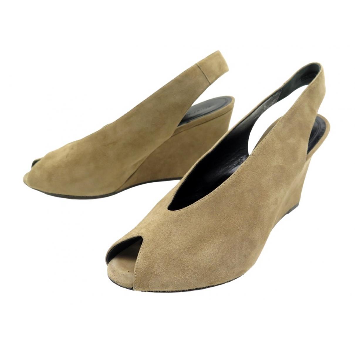 Celine - Escarpins   pour femme en suede - beige