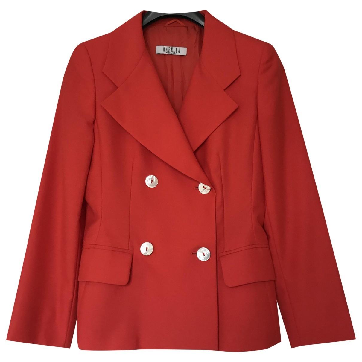 Marella \N Red Wool jacket for Women 40 IT