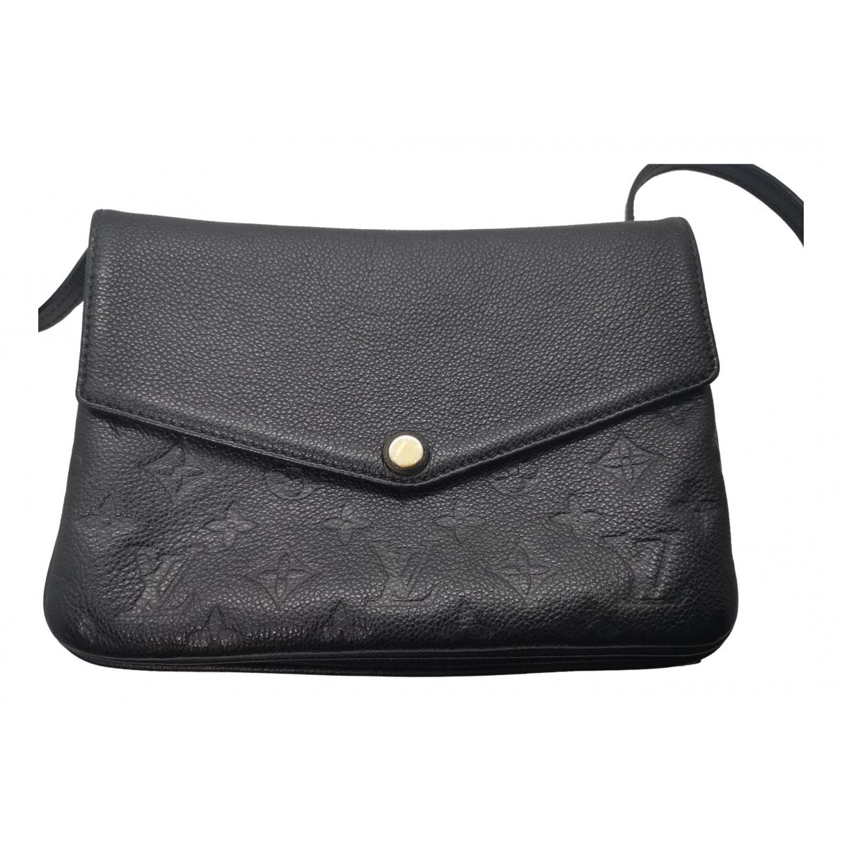 Louis Vuitton Twice Black Leather handbag for Women \N