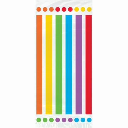 Rainbow Birthday Cellophane Bags, 20ct Pour la fête d'anniversaire