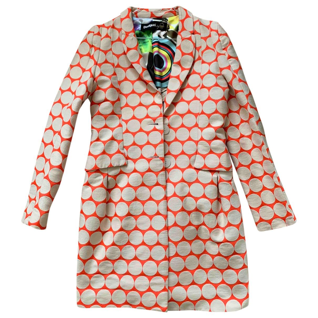 Desigual - Manteau   pour femme - orange
