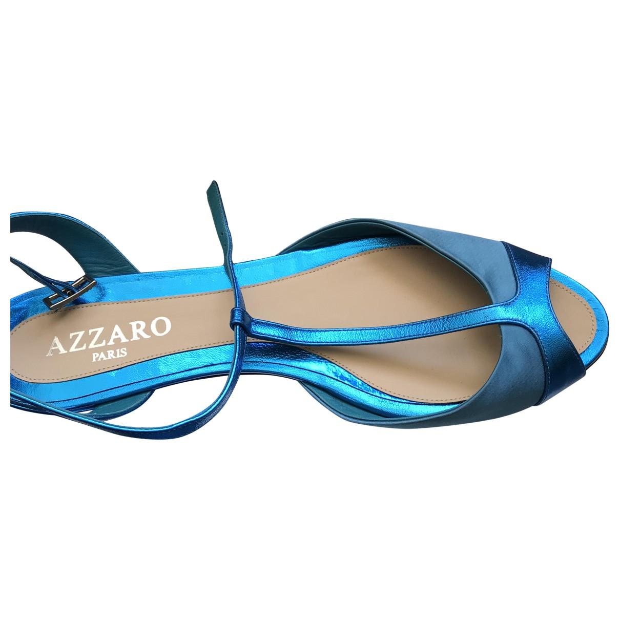 Azzaro \N Sandalen in  Tuerkis Veloursleder