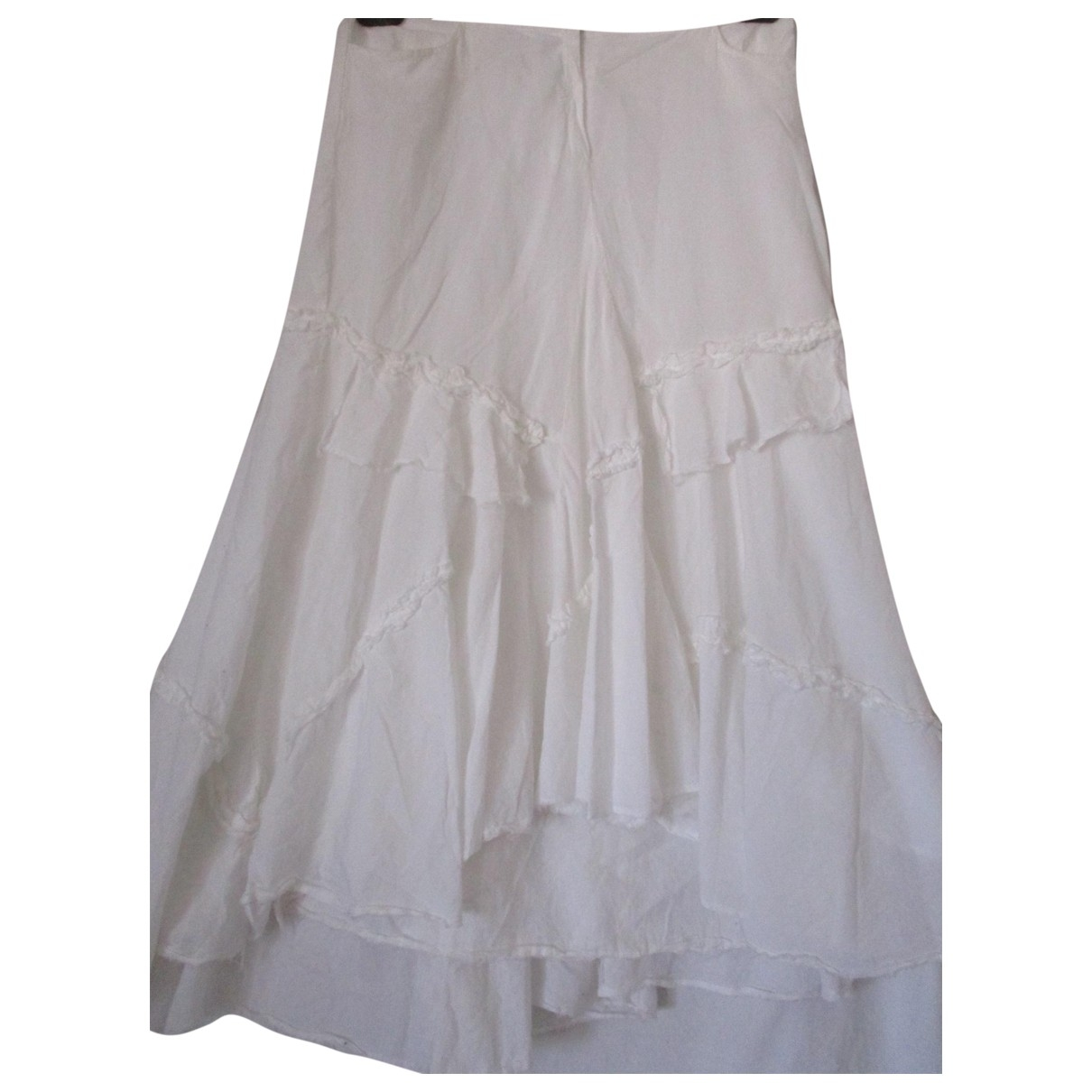 Max & Co - Jupe   pour femme en coton - blanc