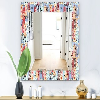 Designart 'Abstract Pattern' Modern Mirror - Wall Mirror (29.5 in. wide x 39.4 in. high)