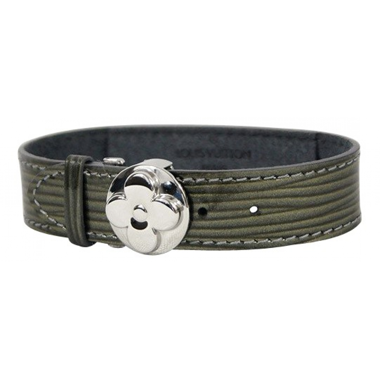 Louis Vuitton - Bracelet   pour femme en cuir verni - vert
