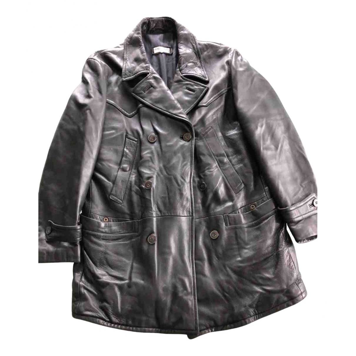 Giorgio Armani N Black Leather coat  for Men 40 UK - US