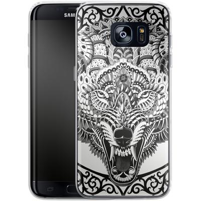 Samsung Galaxy S7 Edge Silikon Handyhuelle - Wolf Head von BIOWORKZ