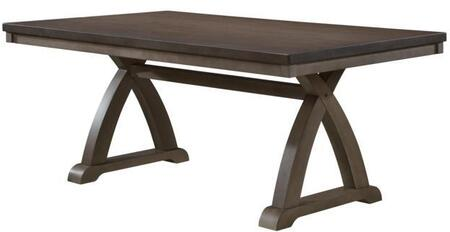 Fairmont Collection FR210-T Dining Table with Rectangular Shape and Trestle Base in Gray Wash