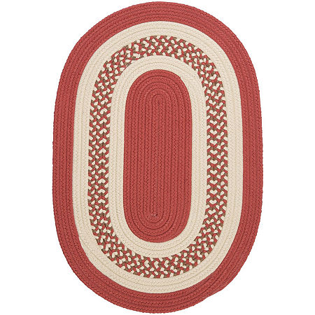 Colonial Mills Lighthouse Reversible Braided Indoor/Outdoor Oval Rug, One Size , Red