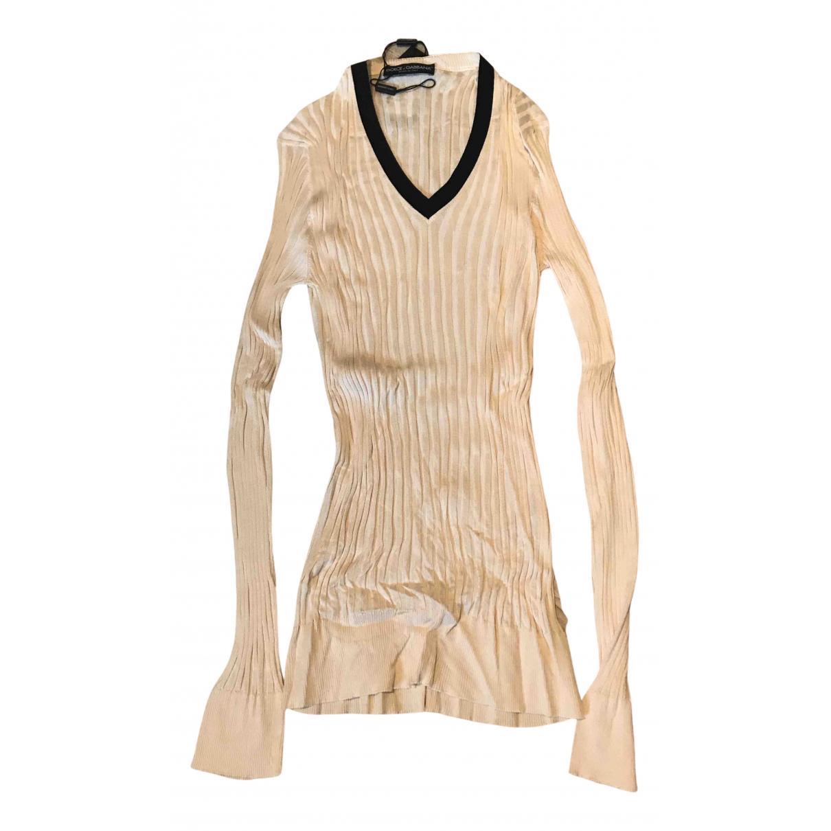 Dolce & Gabbana \N Pullover.Westen.Sweatshirts  in  Ecru Seide