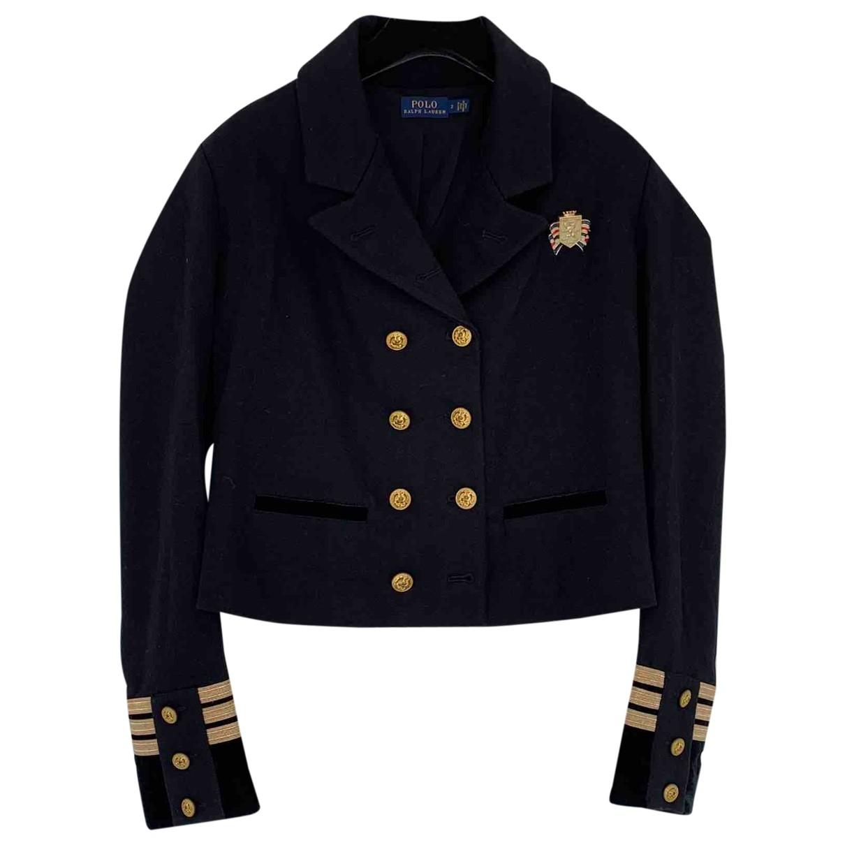 Polo Ralph Lauren \N Jacke in  Schwarz Wolle