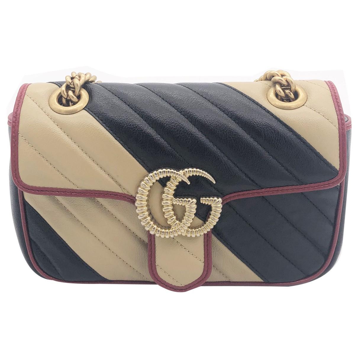 Gucci Marmont Beige Leather handbag for Women \N