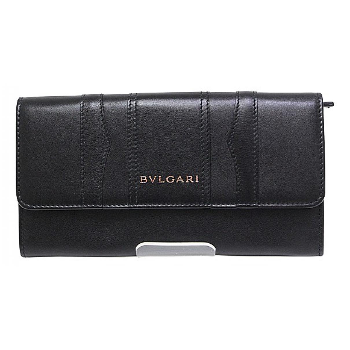 Bvlgari N Black Leather wallet for Women N