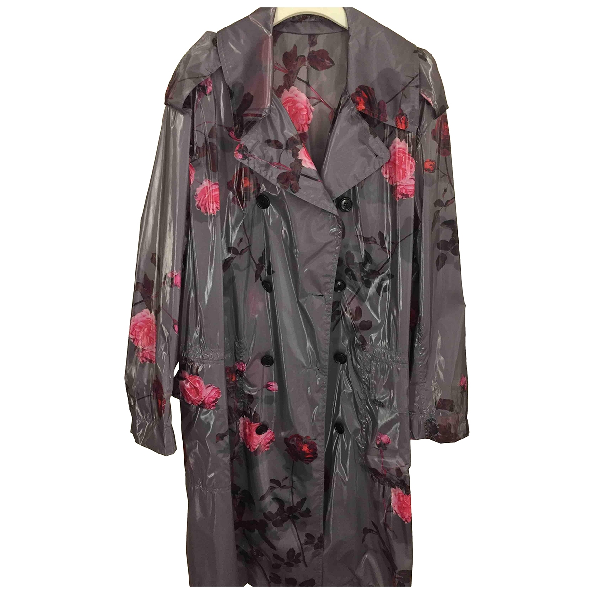 Dries Van Noten \N Trench in  Lila Kunststoff