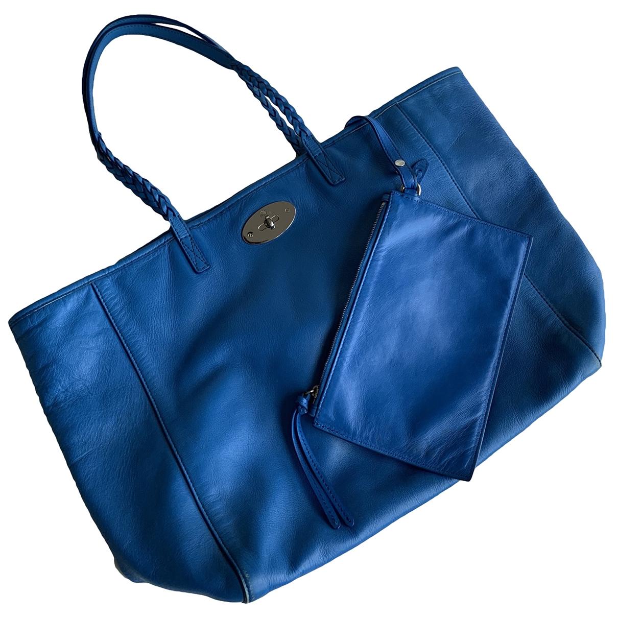 Mulberry \N Handtasche in  Blau Leder