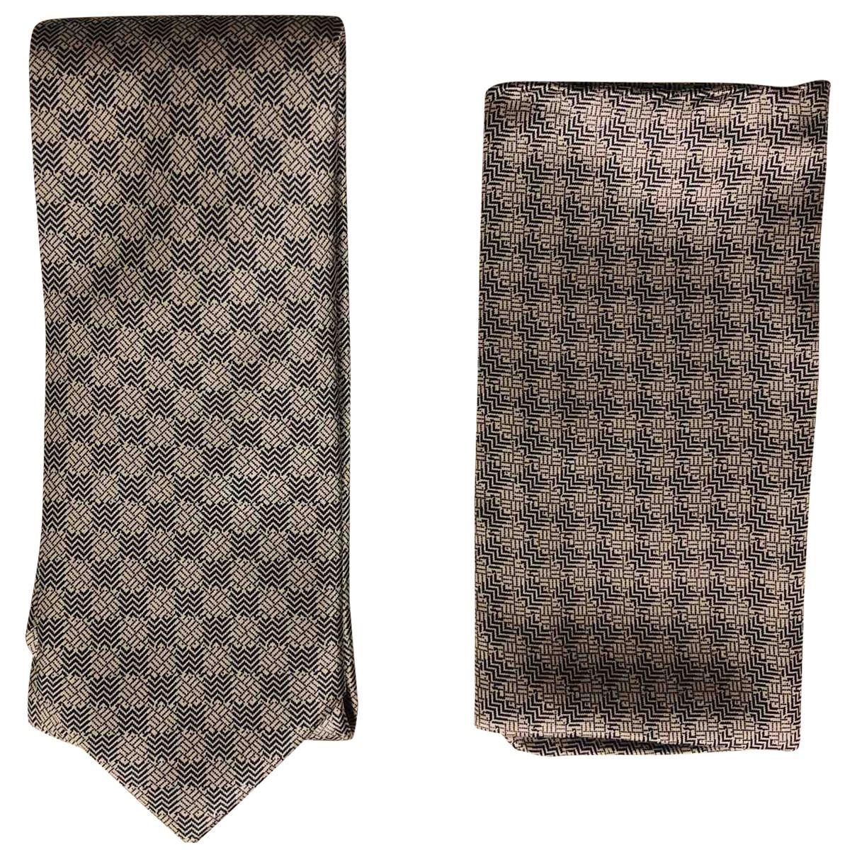 Brioni - Cravates   pour homme en soie - bleu
