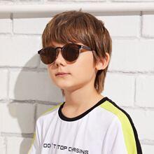 Kleinkind Kinder Sonnenbrille mit flachen Linsen und Etui