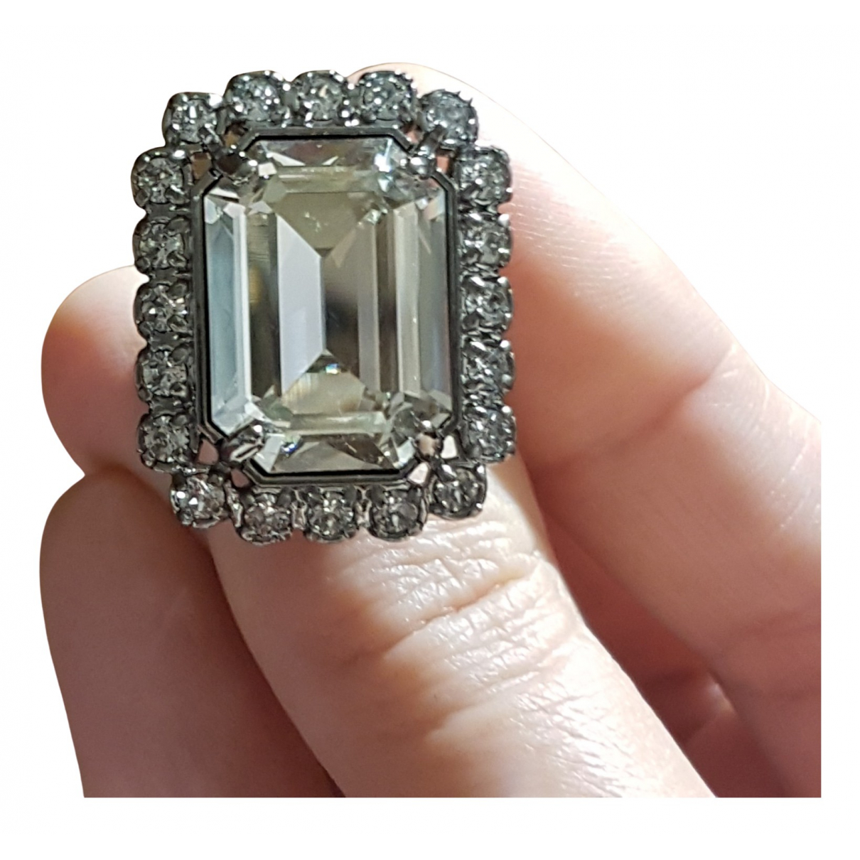 Swarovski \N White Metal ring for Women 52 MM