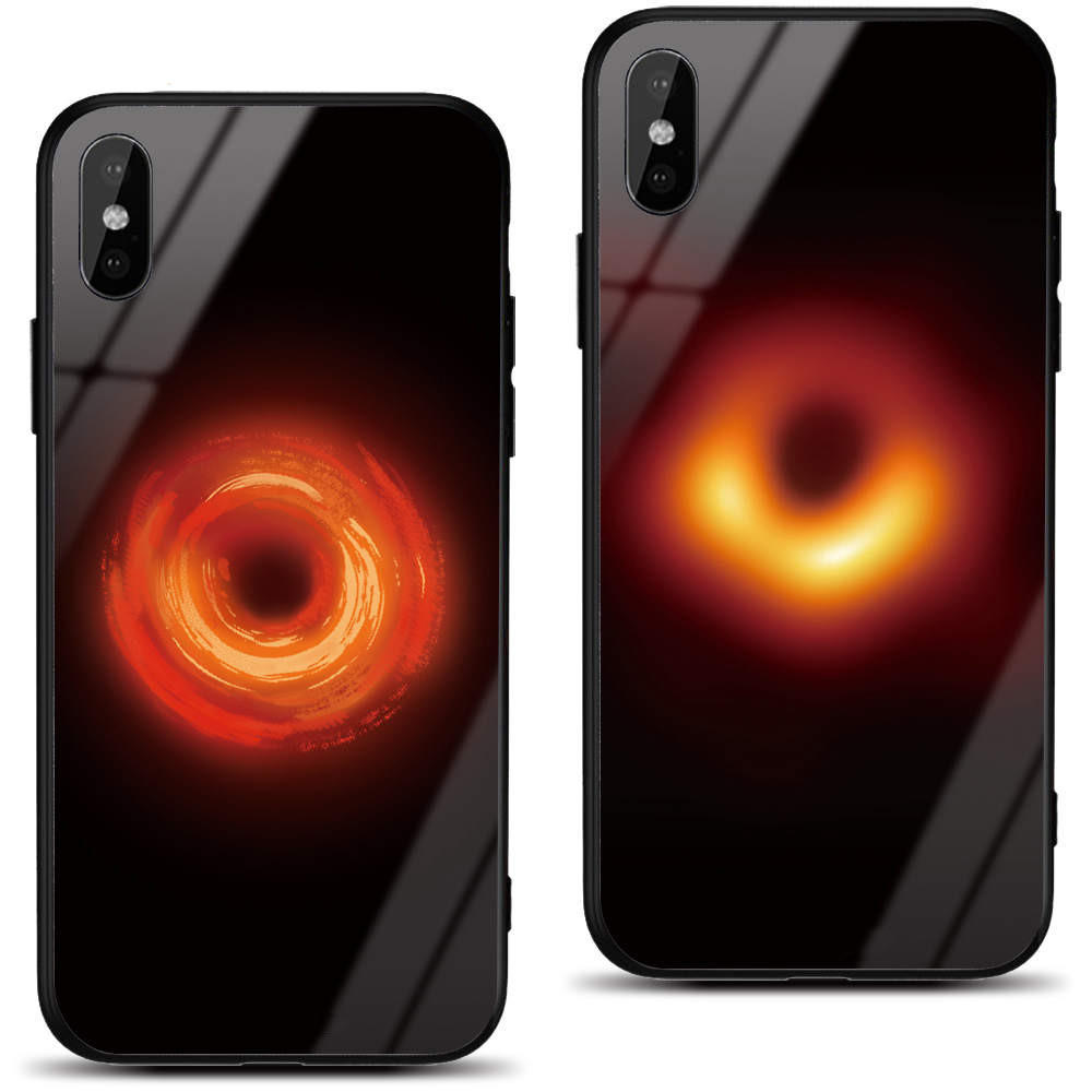 Bakeey Black Holes Collapsar Hard Tempered Glass&Soft TPU Protective Case For Xiaomi Mi 8