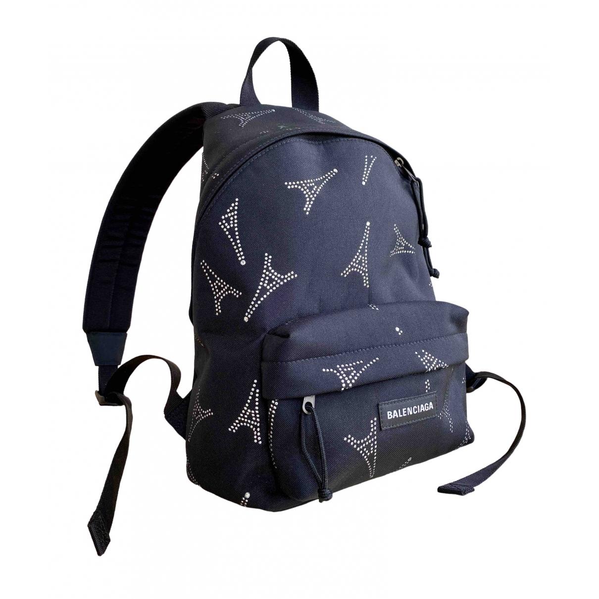 Balenciaga \N Black Cloth backpack for Women \N