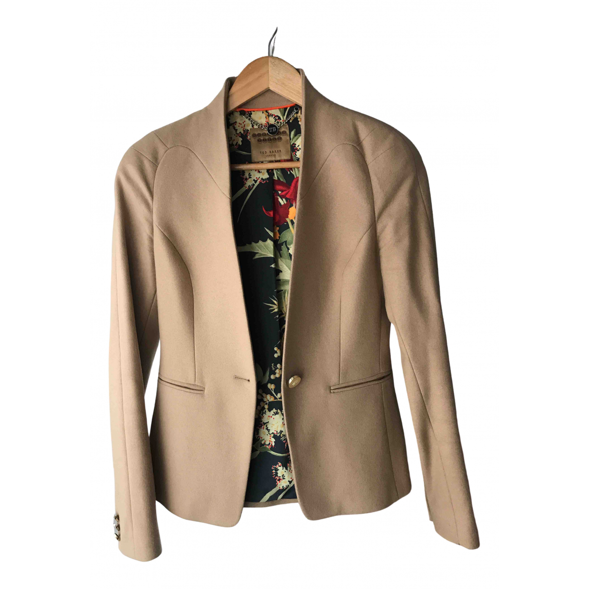 Ted Baker \N Camel Wool jacket for Women 8 UK