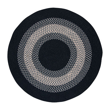 Colonial Mills American Spirit Braided Round Reversible Indoor Rugs, One Size , Blue
