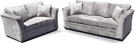 Gorden Collection GDN-CA-13 2 PC Living Room Set with Sofa + Loveseat in Dark Grey
