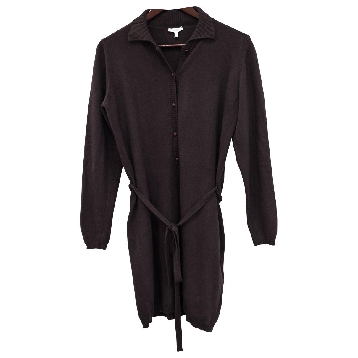 Max Mara \N Kleid in  Braun Wolle