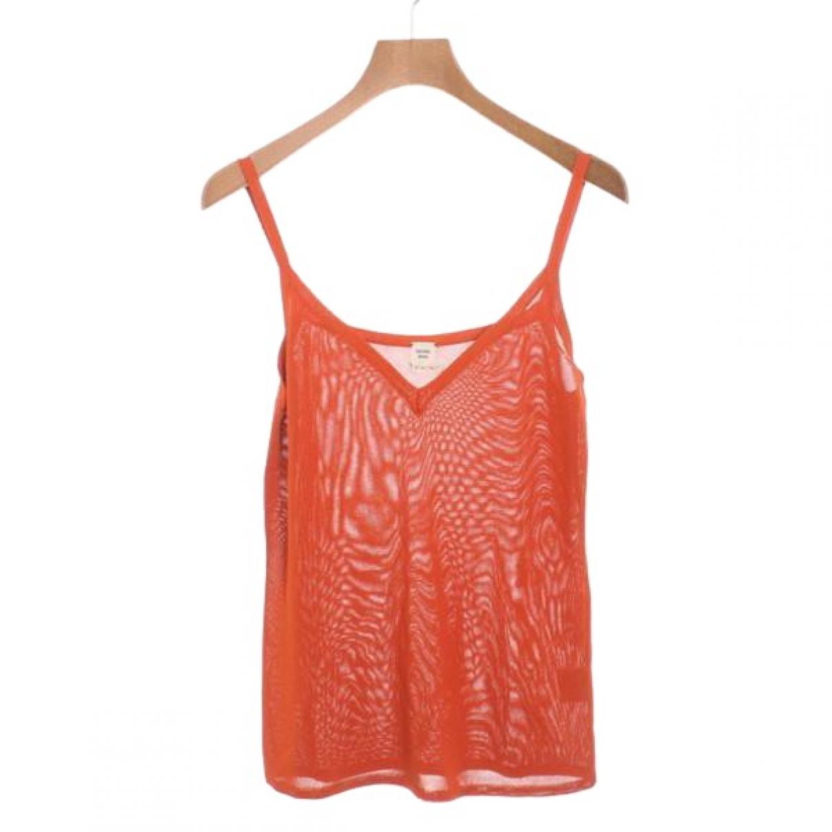 Hermes - Top   pour femme - orange