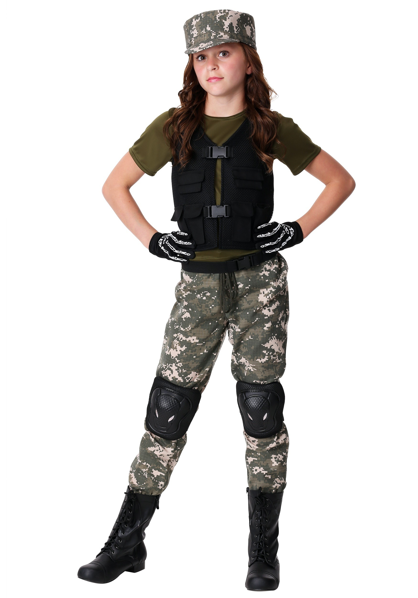 Girl's Exclusive Stealth Soldier Costume