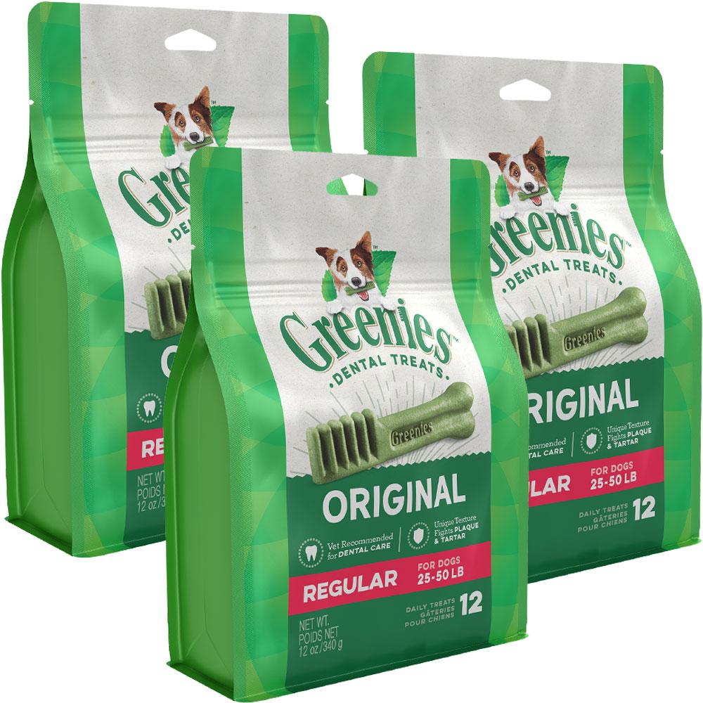 Greenies - Regular 3-Pack (36 Bones)
