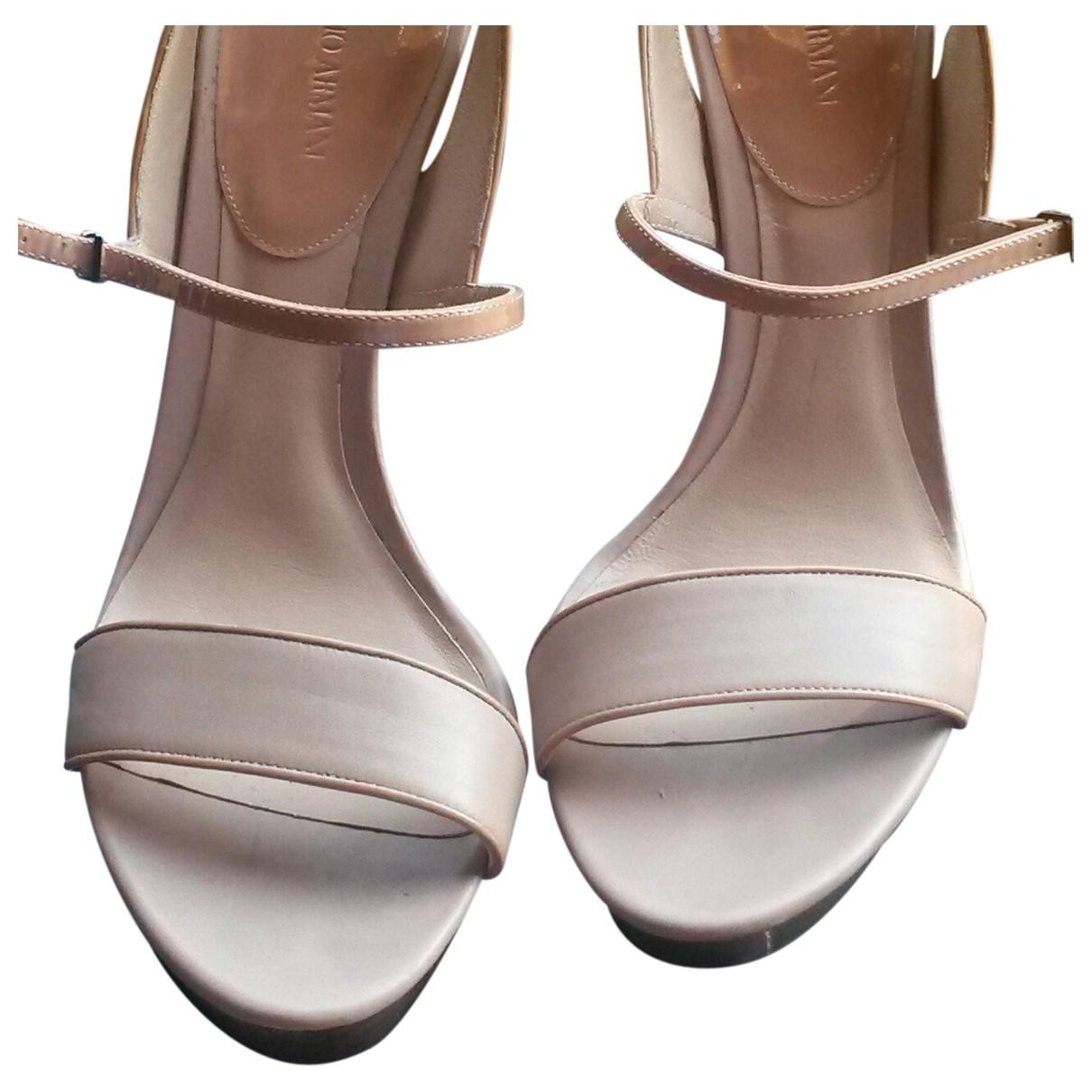 Giorgio Armani - Sandales   pour femme en cuir - rose