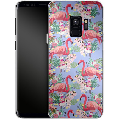 Samsung Galaxy S9 Silikon Handyhuelle - Flamingo Tropical von Mukta Lata Barua