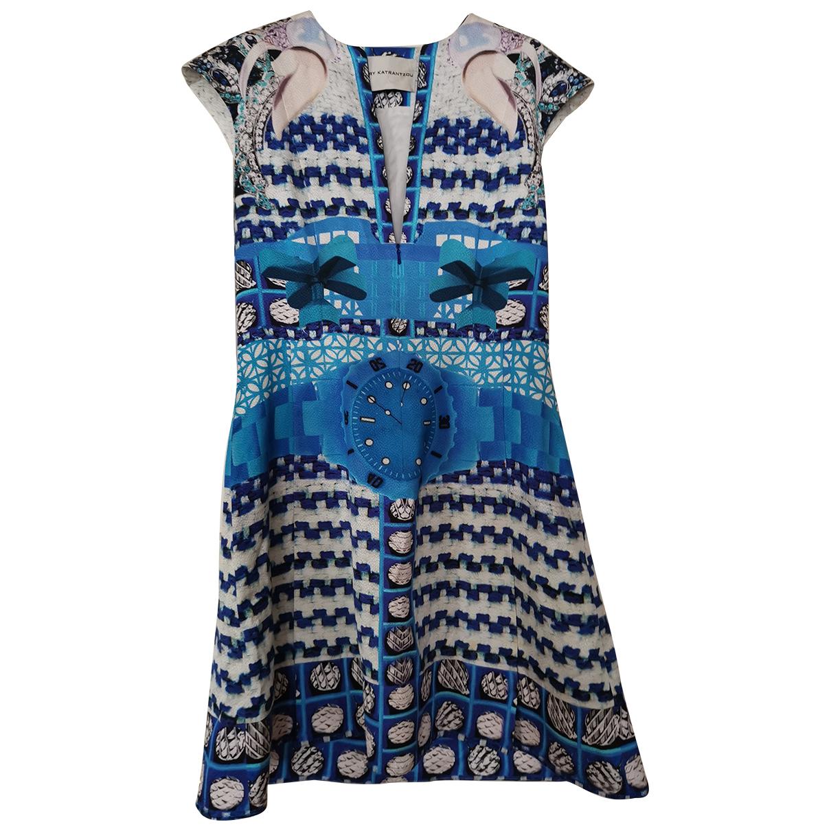 Mary Katrantzou \N Kleid in  Blau Viskose