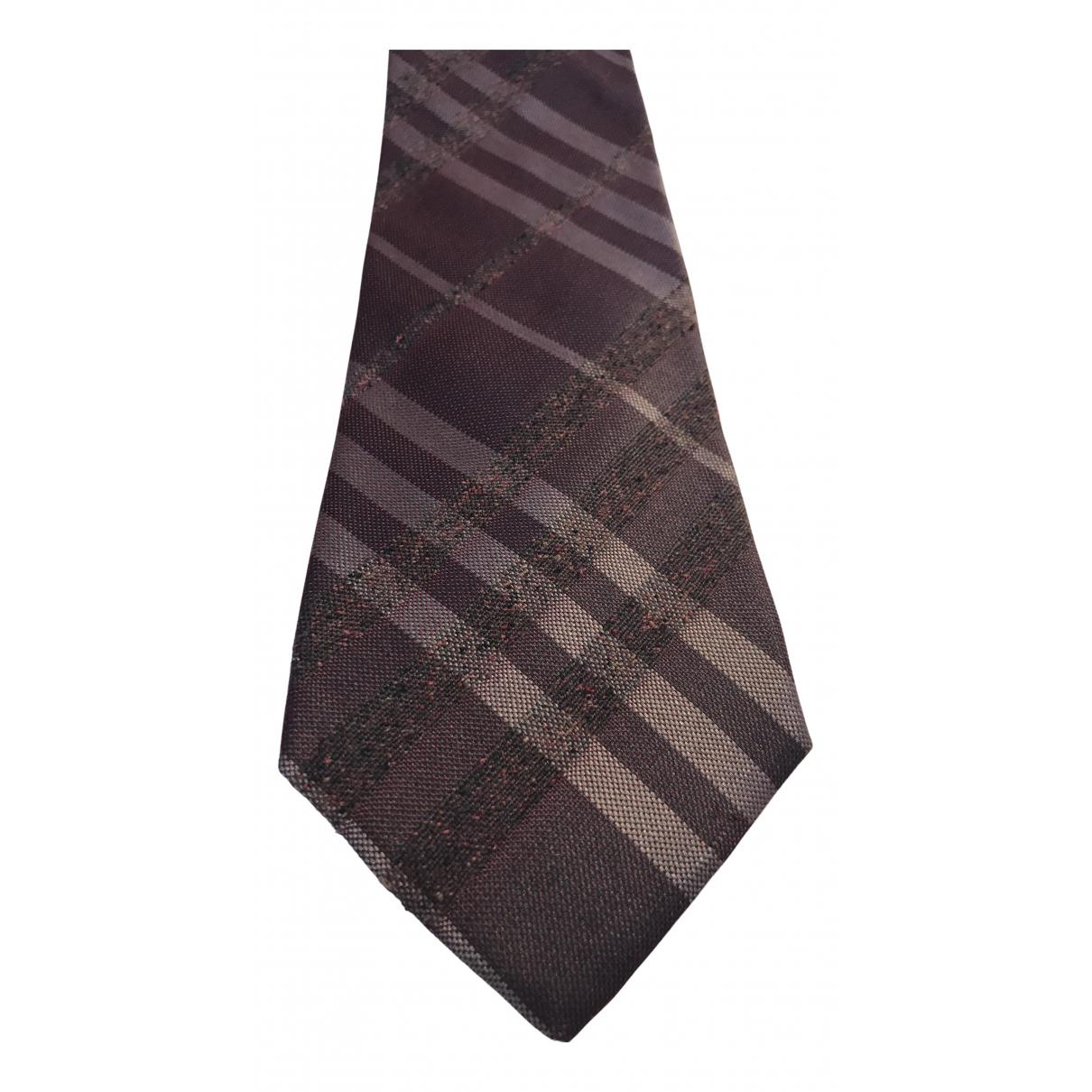 Burberry \N Krawatten in  Bordeauxrot Seide