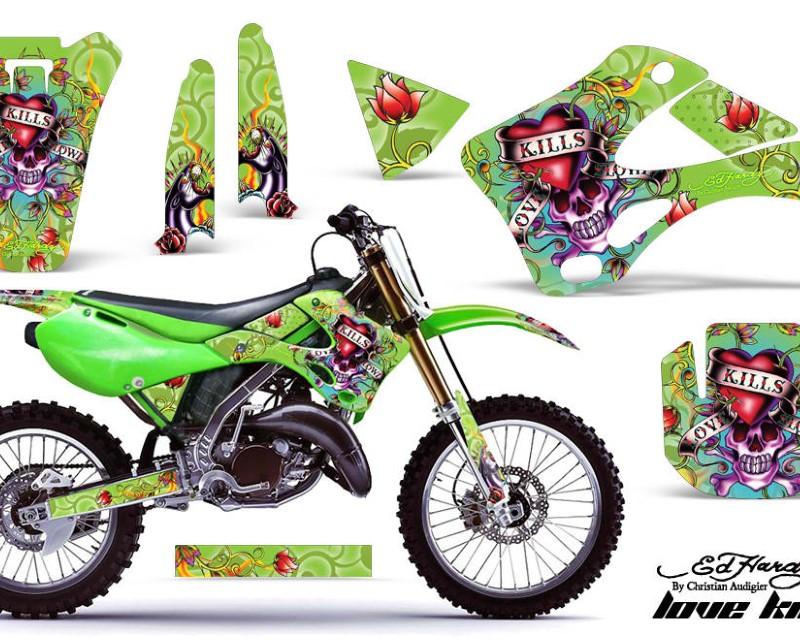 AMR Racing Dirt Bike Graphics Kit Decal Wrap For Kawasaki KX125 | KX250 1999-2002áEDHLK GREEN