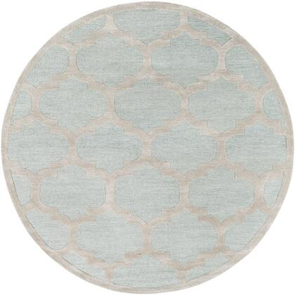 AWRS2122-8RD 8' Round Rug  in Mint and