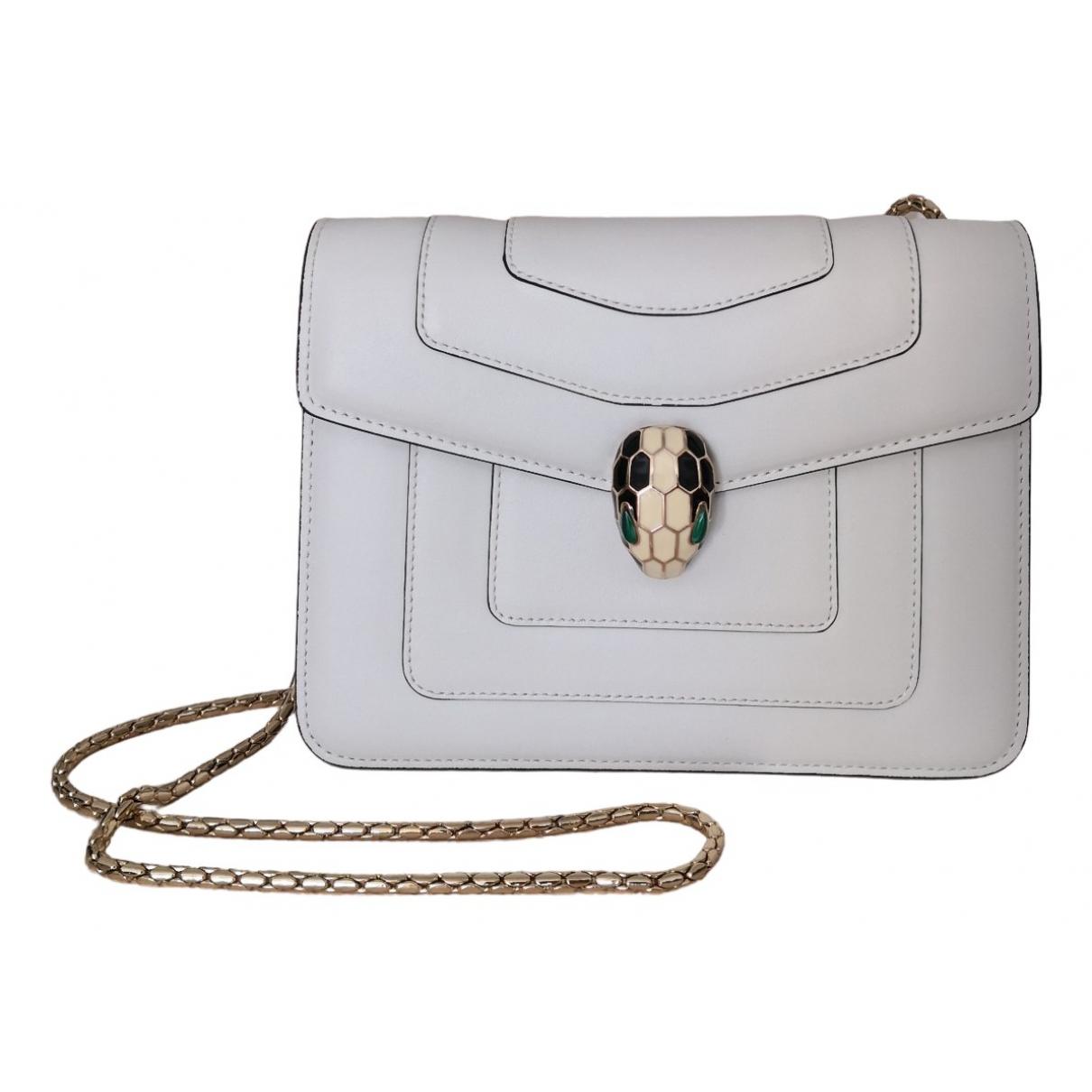 Bvlgari Serpenti White Leather handbag for Women \N