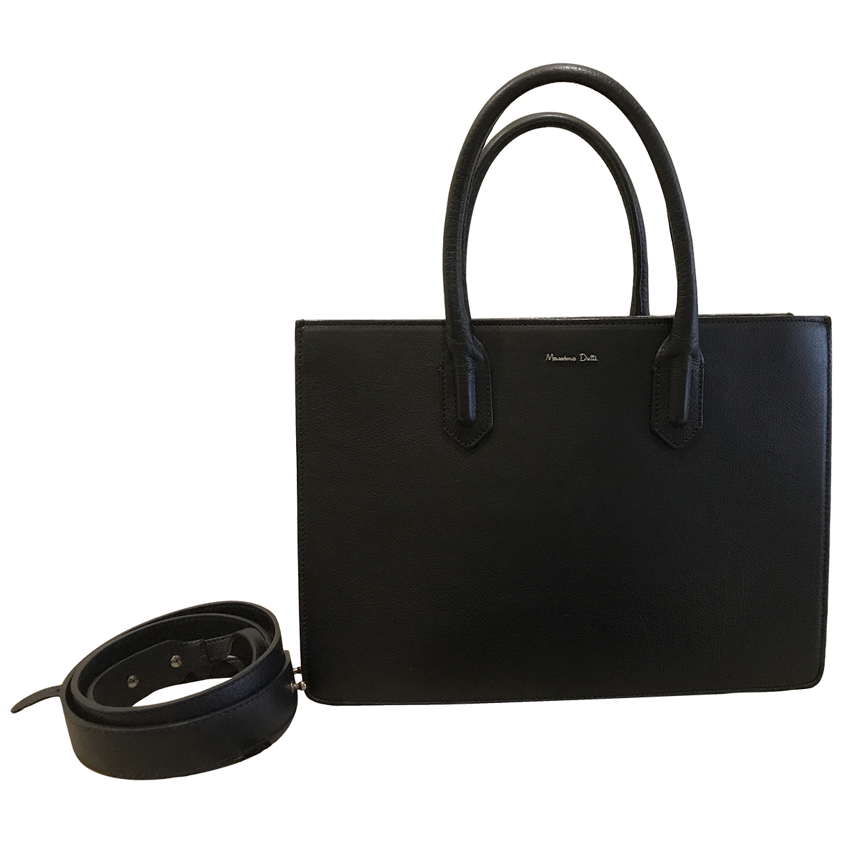 Massimo Dutti \N Black Leather handbag for Women \N