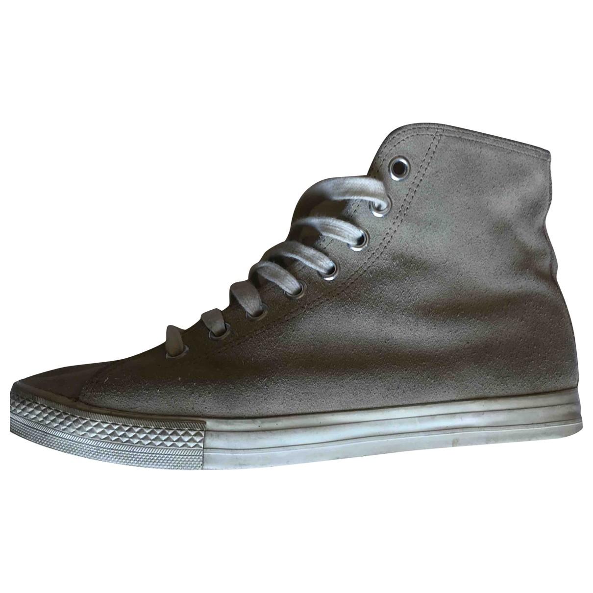 Junya Watanabe \N Sneakers in  Beige Veloursleder
