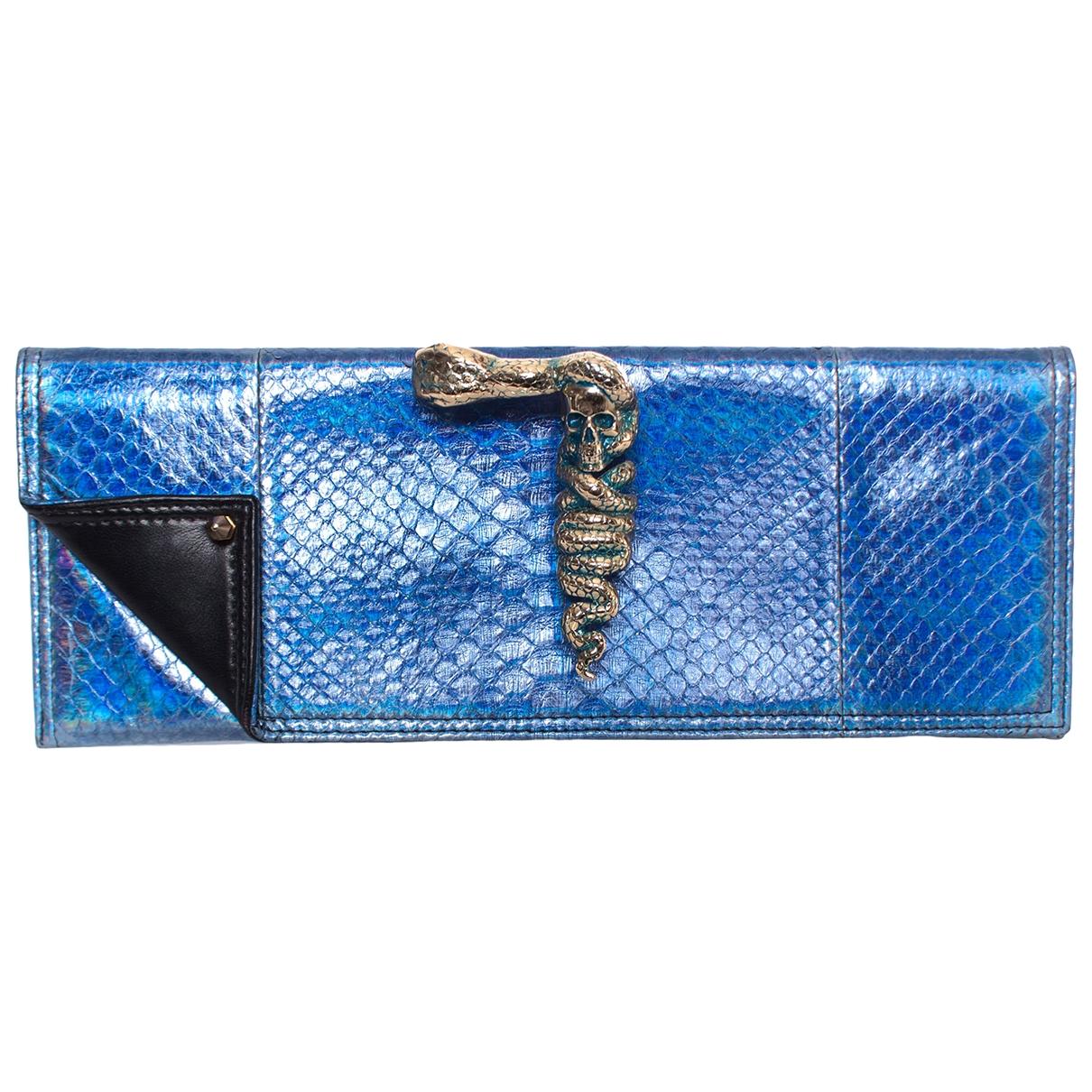Maison Du Posh \N Blue Python Clutch bag for Women \N
