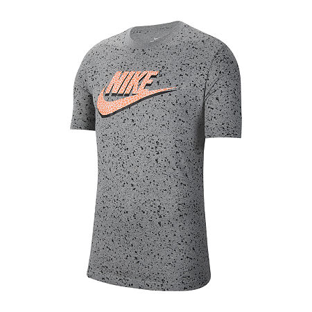 Nike-Big and Tall Mens Crew Neck Short Sleeve T-Shirt, 2x-large Tall , Gray
