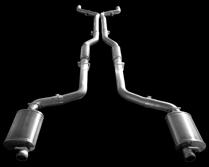 American Racing 1.75 inch x 3 inch Headers with Connection Pipes with Cats and Pure Thunder Exhausts Chrysler 300 SRT8 05-15