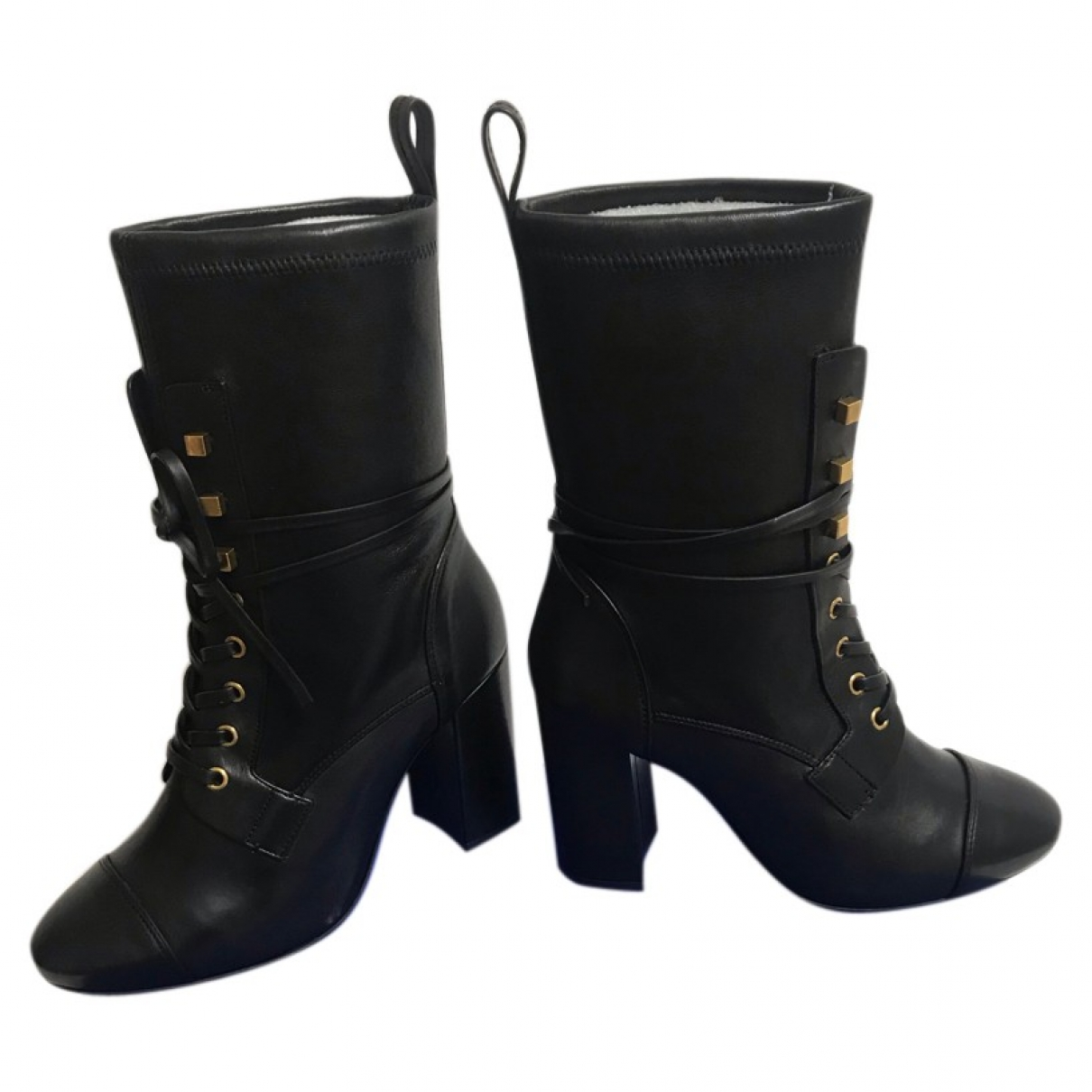 Stuart Weitzman \N Black Leather Ankle boots for Women 38.5 EU