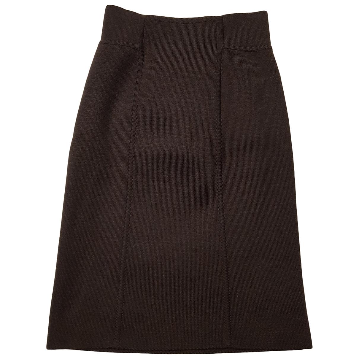 Hermès \N Brown Wool skirt for Women 38 IT
