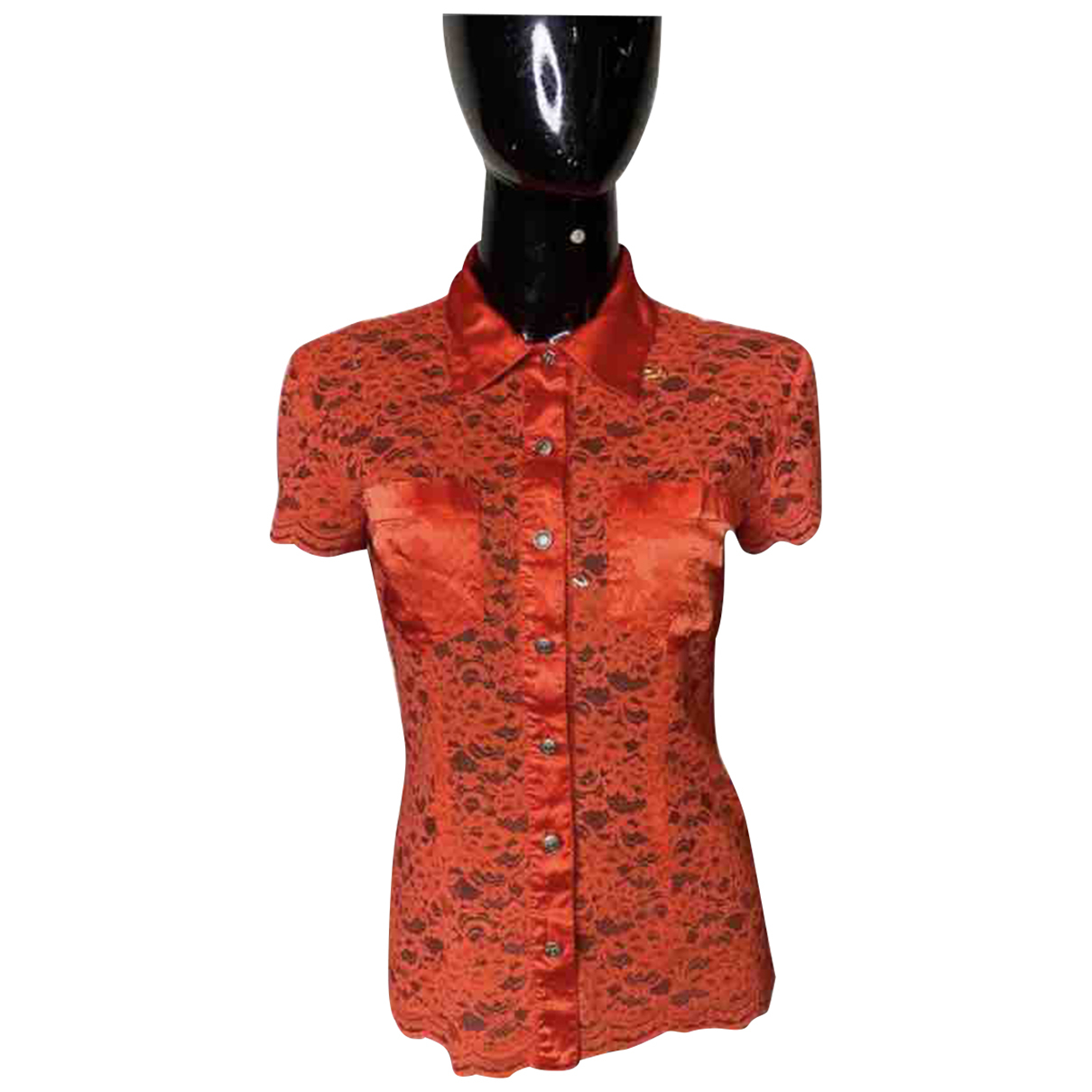 Moschino N Red Lace  top for Women 40 FR