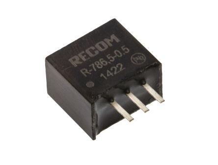 Recom Through Hole Switching Regulator, 6.5V dc Output Voltage, 8 → 32V dc Input Voltage, 500mA Output Current