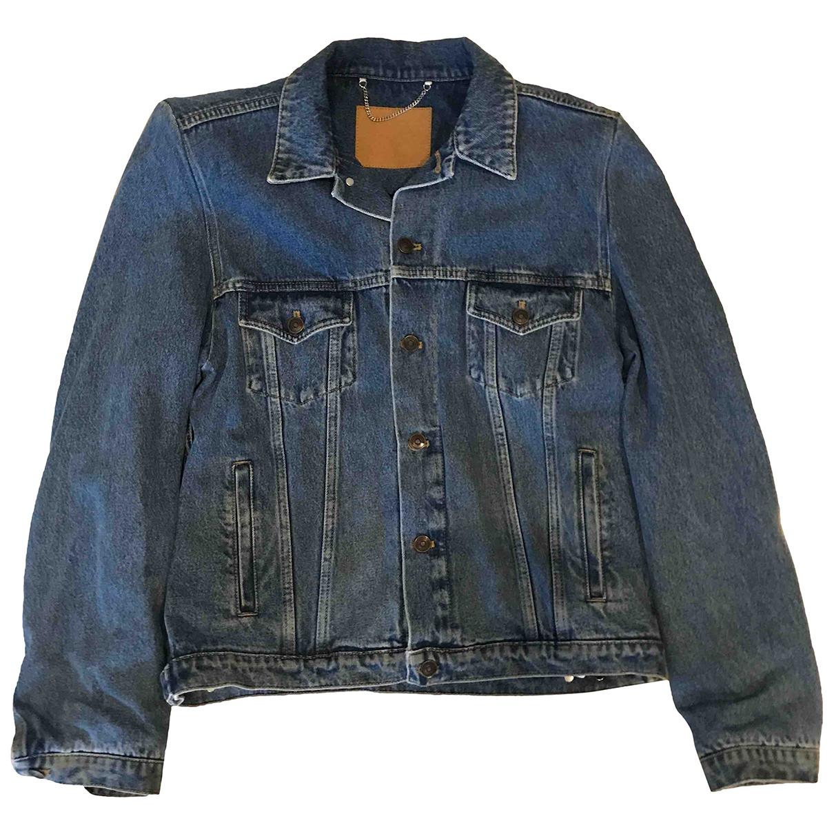 Balenciaga \N Jacke in  Blau Denim - Jeans