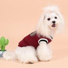 Chaleco jersey de perro con parche
